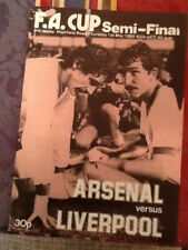 Liverpool Away Team FA Cup Football Programmes