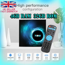 More details for t95 android tv box, android 10.0, 4gb, 32gb, 4k, uhd, hdmi, wifi, smart tv box.