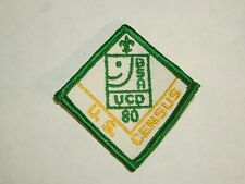 Vintage U.S. Census BSA Boy Scouts of America UCD 80 Embroidered Sew On Patch