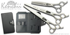 "Kenchii Grooming Set Shinobi 8.0"" straight shear, 8.0"" curved shear, 46-thinner"