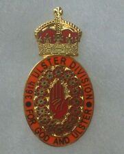36th ulster division  badge somme 1916 enamel loyalist orange order