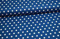 Baumwolle Stoff  Dots Punkte Blau Stenzo A145
