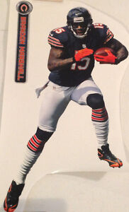 """Brandon Marshall FATHEAD Official Player Graphic 13"""" x 23"""" Bears +Nameplate Sign"""