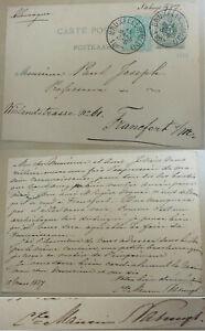 Dutch Numismatiker Maurin Nahuys (1832-1895): Pk Brussels 1887 An Paul Joseph