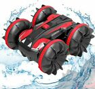 Remote Control Car Boat Truck- Amphibious 4WD Stunt Cars 2.4Ghz Rotating 360°...