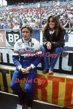 Jacky Ickx & Catherine Ickx Rothmans Porsche Portrait Le Mans 1986 Photograph