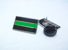 THIN GREEN LINE MERIT UK AMBULANCE MEDIC MOURNING BAND ENAMEL LAPEL PIN BADGE