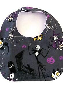 Bib nightmare before Christmas inspired handmade bib Halloween bib dribble bib
