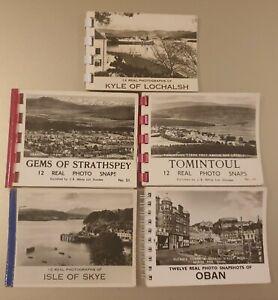 4 x 12 (& 10)  Real Photo Snapshots of Scotland Photo Books - Skye,Lochalsh,Oban