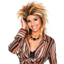 Tina Wig Spikey Mullet Rocker Two Tone Gold & Black Fancy Dress
