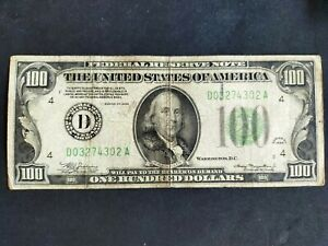 États-Unis billet 100 dollars 1934