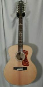 GUild F-2512E BLD Maple Jumbo 12-string Acoustic Electric Blond