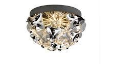 Nino Leuchten LED Deckenleuchte 2 flg Blume Muster Deckenlampe 12W chrom acryl