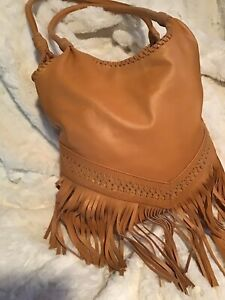 NEW 💞Bohemian💞Bag Handmade Genuine  Leather Fringe Bag / Native Indian Tribe