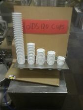 Cup holder stainless steel 5 slot holds 150 + cups sign wrong