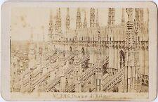 Georges Sommer Cathédrale Milan Italie Italia cdv Vintage albumine