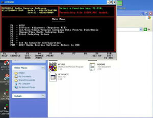 Motorola HT1000 Visar JT1000 Programming Service VHF/UHF/800 Mhz