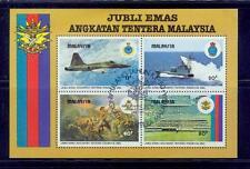 malaysia/1983 jubli emas angkatan tentera s/s-used /little yellow spot on back