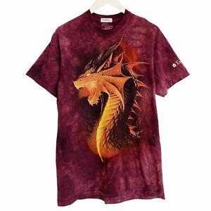 Dragon The Mountain Excalibur Casino Tie Dye T-Shirt Mens Medium
