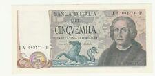 italia 5000 5.000 lire Colombo 3 caravelle  1973  FDS UNC   pick 102b JA062771P