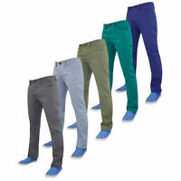 """Mens Straight Leg Cotton Twill Jeans Coloured Summer Trousers 30""""-40"""""""