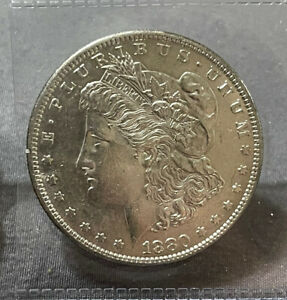 Unc Uncirculated 1880-S Morgan Silver Dollar - $1 Mint State MS BU MS+++