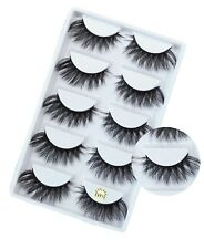 NEW 5Pair 3D Mink False Eyelashes Wispy Cross Long Thick Soft Fake Eye Lashes*//