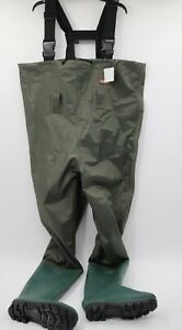 NWT Cadis Men's 8 PVC Chest Waders with boots green fishing waterproof