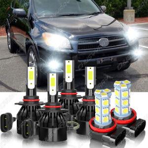 Para For Toyota RAV4 2006-2012 Combo LED Headlight Hi / Lo+Kit de luz antiniebla
