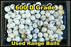 "600 ""D"" Grade Used Range Balls for Practice"