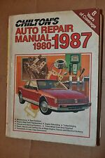 Chilton's  Auto Repair Manual 1987 For 1980 -1987 American Made Models