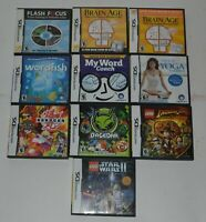 Lot Of 10 Nintendo DS Video Games, Excellent, All With Inserts