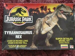 Lindberg Jurassic Park Tyrannosaurus Rex Model Kit 1993 boxed