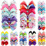6pcs/Set Baby Girls Kids Ribbon Bow Alligator Hair Clip Bows Clips Gift Hairpins