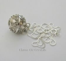 16mm Sterling Silver Harmony Ball Necklace Solid Sterling Silver Chain