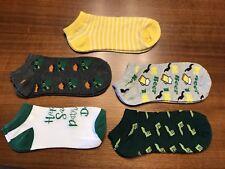 St. Patricks Day Low Cut Socks Lot Of 5 Women's Size 9-11 #2 New