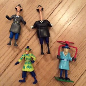 Lot Of 4 Inspector Gadget Action Figures 1991 burger king rare
