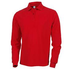 Mens Clothing Long Sleeve Plain Polo Shirt | S M L XL 2XL 3XL | Custom Fit Top