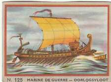 TRIREME ROME Galère Galley NAVY ANTIQUITE antiquity BOAT CHROMO 50s