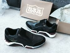 ASH Heroe Leather Black/Red/ old /Black trainers Eur Size 44