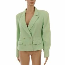 CHANEL Blazer Jacket Mint Green Tweed Wool Size 40 / UK 12 - Princess of Wales