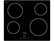 Bosch PKE611D17E 4 Burner Black Glass Electric Ceramic Hob 59cm