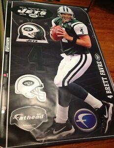 """Brett Favre Life Size Real Big Fathead New York Jets 78"""" x 34"""" Brand New NFL"""
