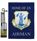 Home Air National Guard Airman Garden Flag Armed Forces Army Yard House Banner