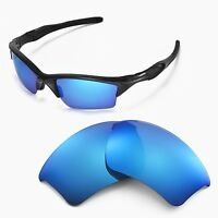 New Walleva Ice Blue Replacement Lenses For Oakley Half Jacket 2.0 XL Sunglasses