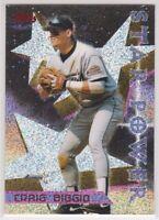 1996 CRAIG BIGGIO - Topps POWER BOOSTER Baseball Card # 9 - HOUSTON ASTROS HOF