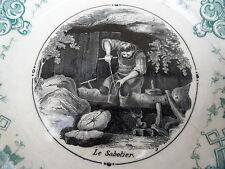 ASSIETTE LE SABOTIER SARREGUEMINES