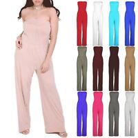 Plus Size New Womens Wide Leg Palazzo Ladies Casual Boobtube Rompers Jumpsuit
