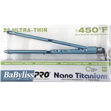 "Babyliss Pro Nano Titanium Plated Ultra-Thin Straightener Iron 2"" BABNT3074T!"