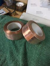 50mm Length Conductive Copper Foil Tape Self Adhesive 2 Rolls x 25m